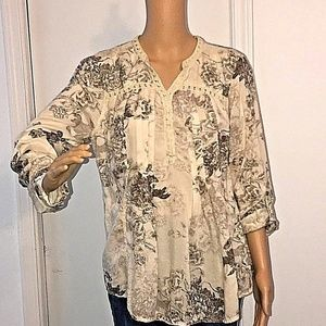 Vintage America  Tunic Top  Size M  Long Sleeve